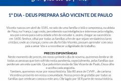 1º dia - Deus Prepara São Vicente de Paulo