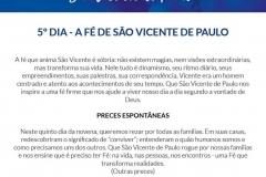 5º dia - A fé de São Vicente de Paulo